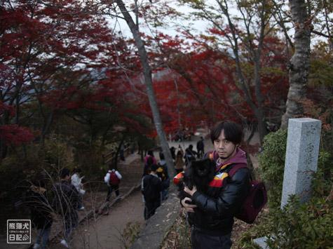 20111208_高尾山の頂上7
