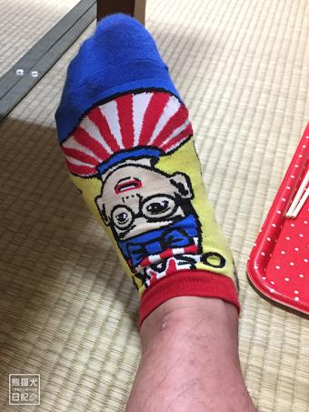 くいだおれ太郎の靴下