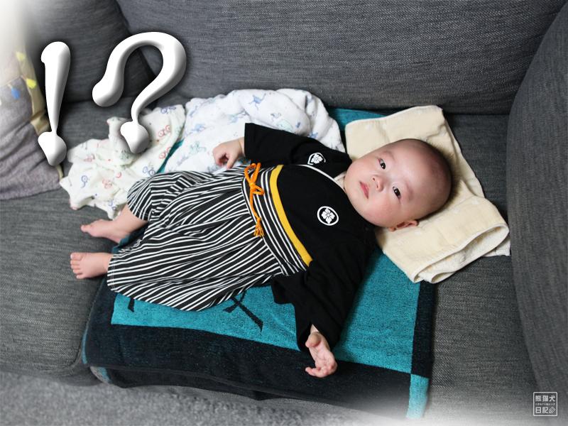 着物姿の赤ちゃん